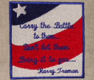 CARAY THE BATTLE Free Patriotic Designs