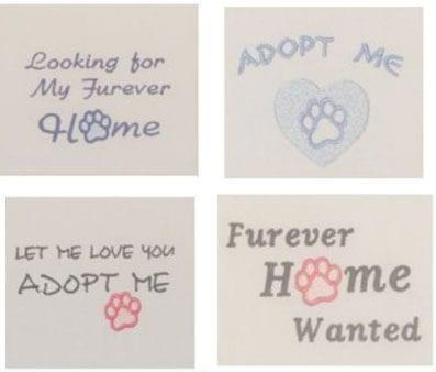 Four Free Pet Rescue designs