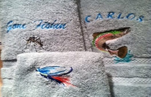 embroidery on beautiful set of towels