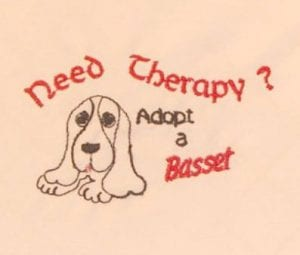 Adopt a Basset embroidery