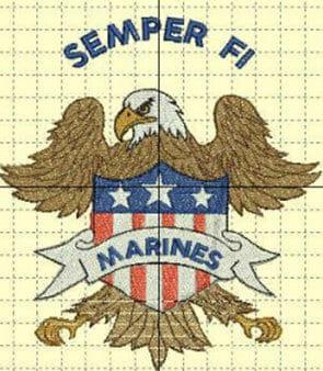 Semper FI Marines Free Patriotic Designs