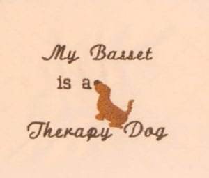 Basset Therapy Dog Rescue free embroidery