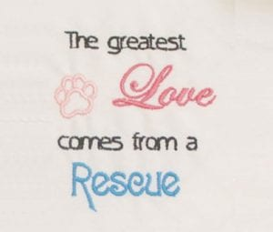 Dog Love Rescue free embroidery