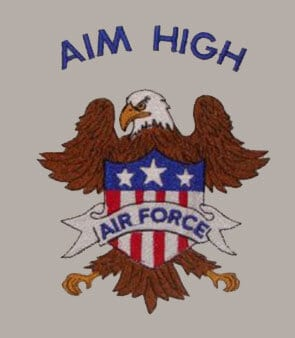 AIM High Air force eagle Free Patriotic Designs