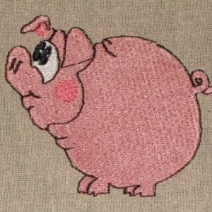 piggy animal embroidery