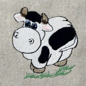 Holstein cow animal embroidery
