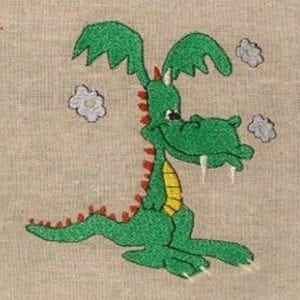 Baby dragon animal embroidery