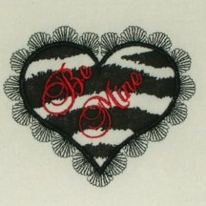 be mine Heart embroidery applique designs