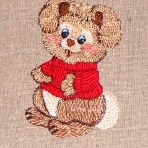 beautiful girl bunny embroidery