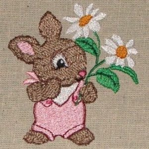 Baby bunny embroidery