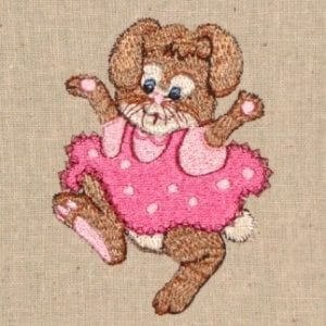 little girl bunny embroidery