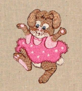 little girl bunny embroidery