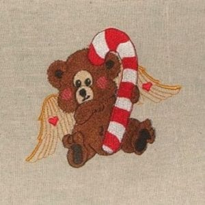 angle bear Christmas embroidery design