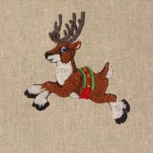 reindeer Christmas embroidery design