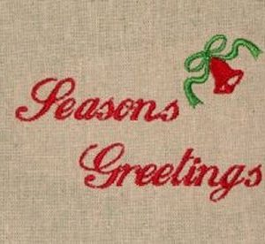 Christmas greetings machine embroidery design