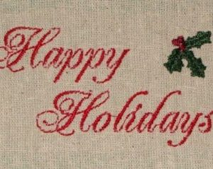 harpy holiday christmas machine embroidery design