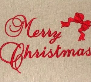 Merry Christmas embroidery