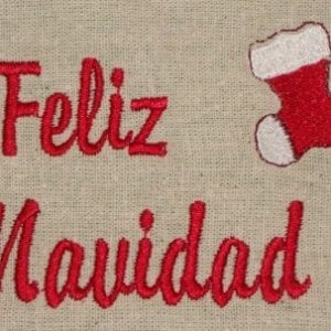 Christmas Greeting Spanish Machine Embroidery