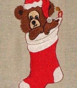 German greeting Christmas machine embroidery design