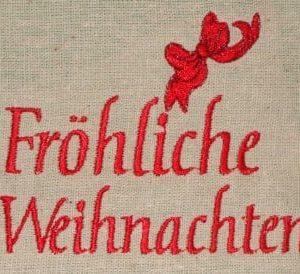 German greeting Christmas machine embroidery design