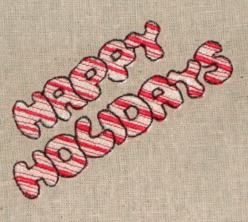 Christmas cane stripe machine embroidery design
