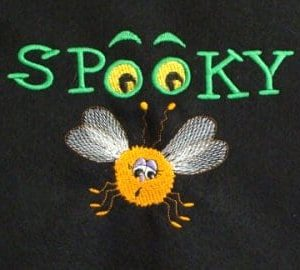 spooky bug Halloween embroidery design
