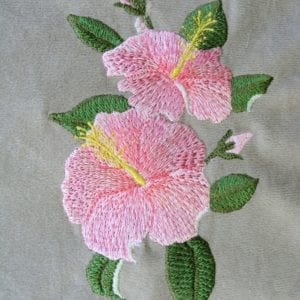 pink Hibiscus Machine embroidery design