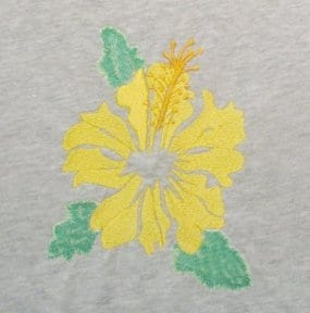Yellow Frilly Hibiscus Machine embroidery design