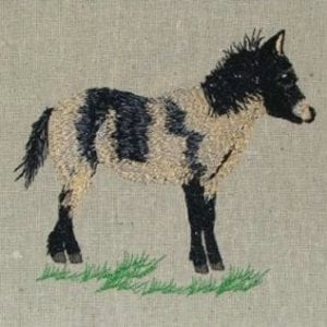 Miniature pony Machine Embroidery