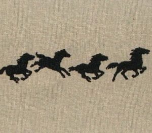 running horses Machine Embroidery