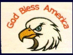 God bless America embroidery patch