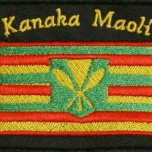Kanaka Maoli Flag embroidery patch