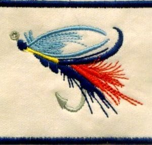 fishing lure embroidery patch