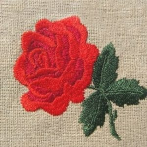 Awesome red rose embroidery design
