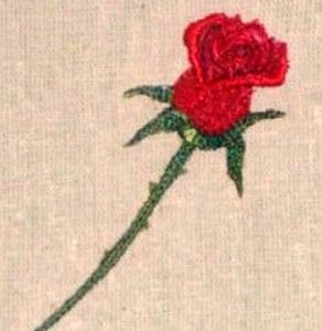 Best red rose embroidery design