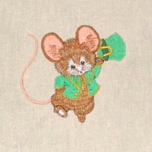 St. Patricks Irish Mouse Machine Embroidery