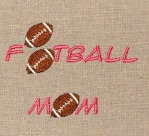 football mom Machine Embroidery