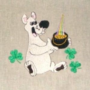 st. patricks Pot of Gold embroidery