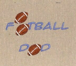 football dad Machine Embroidery