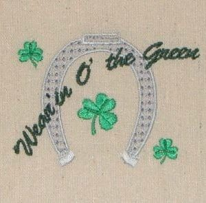 St. Patricks Horseshoe embroidery design