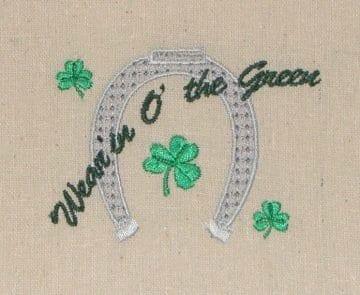 St. Patricks Horseshoe embroidery design