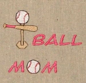 t-ball mom Machine Embroidery