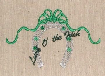 Irish Horseshoe Machine Embroidery