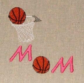 basketball mom embroidery