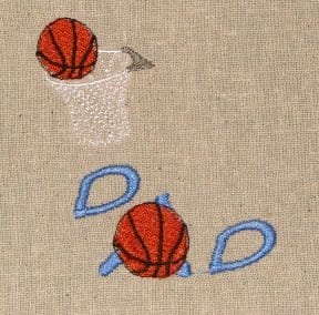 basketball Dad embroidery
