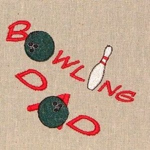 bowling dad Machine Embroidery design