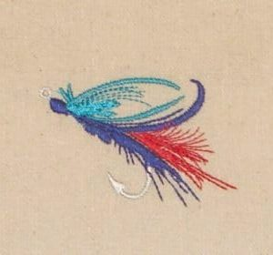 Beautiful fishing lure embroidery