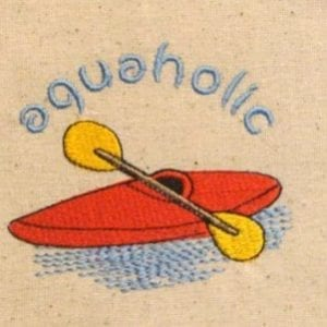 kayaker embroidery