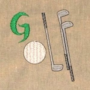 golf embroidery designs