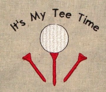 golfing towel Machine Embroidery